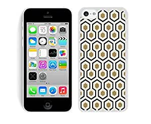 Luxury TPU Phone Case for Iphone 5c Honeycomb Cell Phone Protective Soft Silicone White Cover Accessories