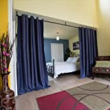 RoomDividersNow Premium Heavyweight Room Divider Curtain, 9ft Tall x 15ft Wide (Harbor Blue)