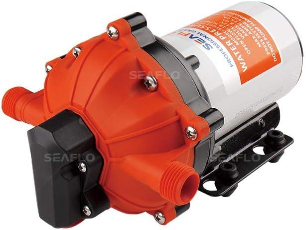 SEAFLO Bomba de diafragma Serie 55-12V CC, 5.5 GPM, 60 PSI con Interruptor DE PRESIÓN DE Trabajo Pesado