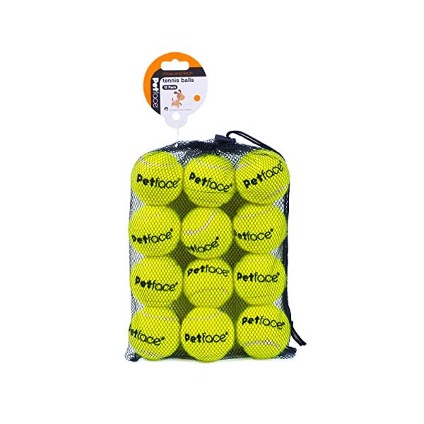 Petface Tennis Balls for Dogs, 12-Piece 1