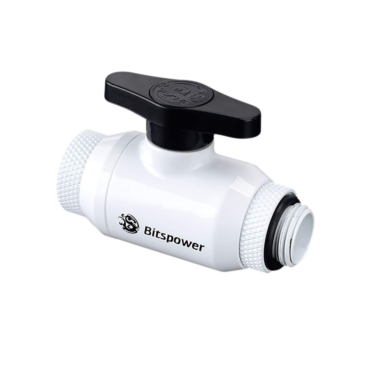 Bitspower G1/ 4 Inch Sled Dual Rotary (360 Degrees Rotation) Mini Valve Sparkle with G 1/4 Inch Extender Black