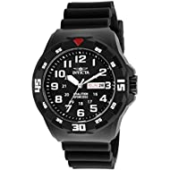 Men's 'Coalition Forces' Quartz Stainless Steel and Silicone Casual Watch, Color:Black (Model:...