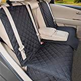 YESYEES Waterproof Dog Car Seat Covers Pet Seat Cover Nonslip Bench Seat Cover Compatible for Middle Seat Belt and Armrest Fits Most Cars, Trucks and SUVs(Black)