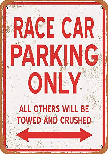 SUPVIVI 8 x 12 Metal Sign - Race CAR Parking ONLY - Vintage Wall Decor Home Decor