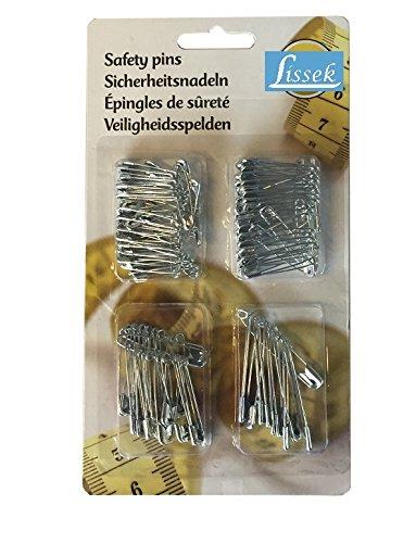 mittelgro/ß Sicherheitsnadeln 20 St/ück hochwertig silberfarben