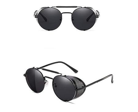 e1a84ac406ed KOMNY Fashion SteamPunk Sunglasses Men Round Side Mesh Style Sun Glasses  Vintage Punk Eyewear Men Gafas De Sol,C: Amazon.co.uk: Kitchen & Home