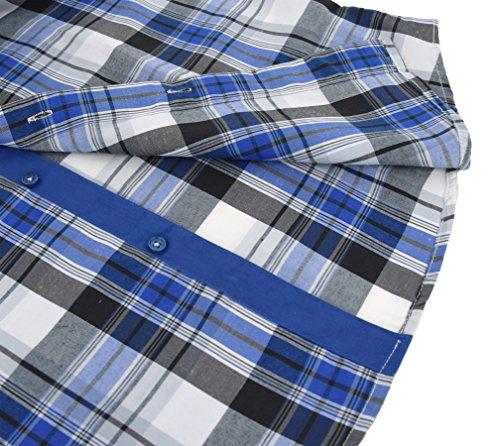 ENZO Camicia Uomo a Quadri Slim Fit con Maniche Lunghe Taglia S a XXL