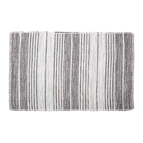 DII CAMZ11090 Contemporary Reversible Machine Washable Recycled Yarn Area Rug for Bedroom, Living Room, and Kitchen, 2 x 3', Variegated Stripe Gray (Throw Rugs Washable)