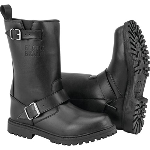Black Brand Thug Men's Street Motorcycle Boots - Black/Size 10