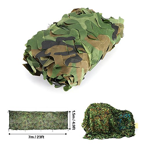 ALLOMN Camo Netting, Woodland Desert Camouflage Net Military Blind for Sunshade Camping Shooting Hunting Decoration (234.9ft) Desert Camouflage Fabric