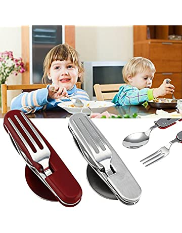 TOPmountain 4 En 1 plegable plegable Tenedor Cuchara del cuchillo del abrelatas Recorrido que acampa portable