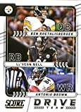 #10: 2017 Score Drive Team #8 Antonio Brown/Ben Roethlisberger/Le'Veon Bell Pittsburgh Steelers Football