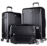 Luggage Sets, Coofit 3 Pcs Spinner Suitcase for Travel Lightweight Luggage Set
