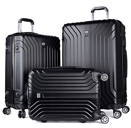 Luggage Sets, COOFIT 3 Pcs Spinner Suitcase for Travel Lightweight Luggage Set by COOFIT