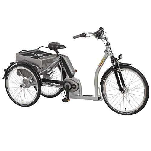 "PFIFF Adult Grazia Electric Tricycle (24"" & 26"" wheels), Silver"