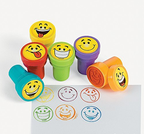 Fun Express 24 pc Goofy Smile Silly Face Stamps -