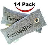 carbon air freshener - Freshenbag Natural Air Freshener - Eco Friendly Odor Eliminator - Moisture Absorber - Activated Bamboo Charcoal - Shoe Deodorizer, Car Deodorizer, Closet or Room Air Purifier - By OLIVIA & AIDEN