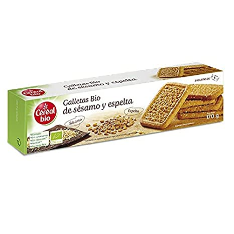 Galletas Bio De Sésamo Y Espelta Cereal Bio 170 G: Amazon.es ...