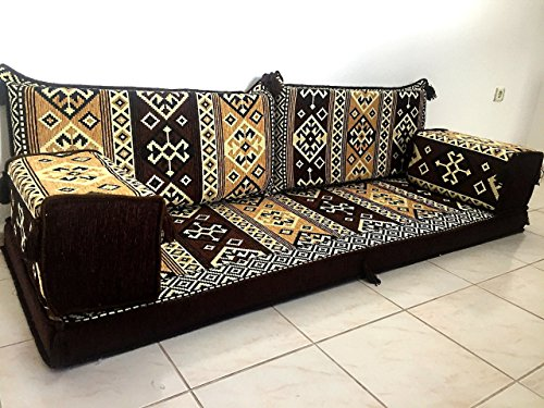 Furniture,oriental seating,arabic sofa,sofa set,floor couch,floor cushions,arabic jalsa,majlis,hookah bar decor - MA 9