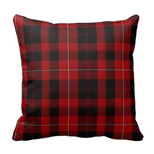 Square Canvas Accent Pillows Clan Cunningham Tartan Plaid Pi