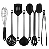 Adeeing 8 Pcs Nonstick Kitchen Utensil Set(Silver, Silicon, Stainless Steel)
