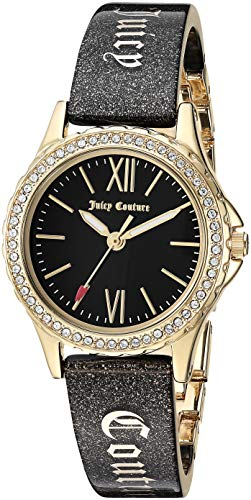 - Juicy Couture Black Label Women's  Swarovski Crystal Accented Gold-Tone and Black Shimmer Resin Bangle Watch