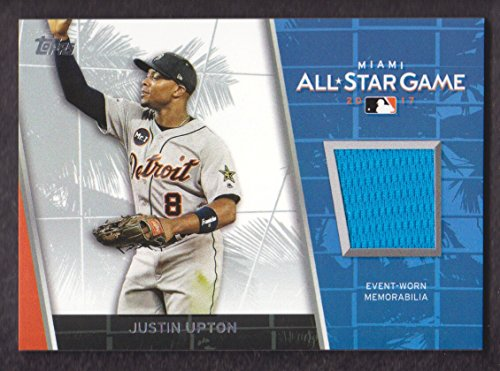 2017 Topps Update Baseball All-Star Stitches #ASR-JU Justin Upton Detroit Tigers