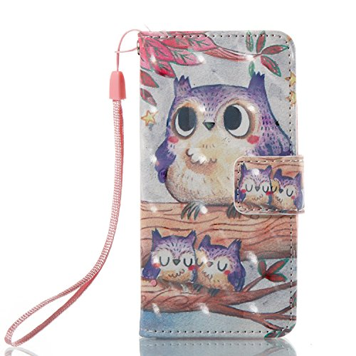 Urberry iPod Touch 5th / 6th Generation Case, 3D Bling Wallet Case for iPod Touch 5th / 6th Generation with a HD Screen Protector (Purple)