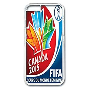 FIFA World Cup Design PC Transparent Case for Iphone 6 Canada 2015 World Cup Logo