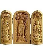Buddha Statue Wood Carving Buddha Statue Sankai Buddha Mini Buddha Supreme Amida Nyorai Kannon Shrine Mamoru Honjo Figurine