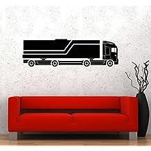 Wall Stickers Truck Car Garage for Boys Kids Art Room Mural Vinyl Decal (ig2684)