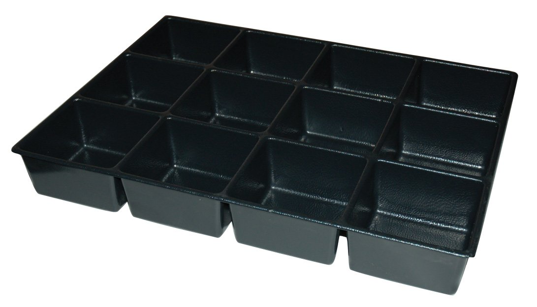 Kennedy Manufacturing 81924 4'', 4-Compartment Divider For 27'' W Kennedy Roller Cabinets & Chests, Industrial Black