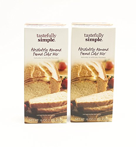 Tastefully Simple 2 Pack Absolutely Almond Pound Cake (Bundt Pound Cake)