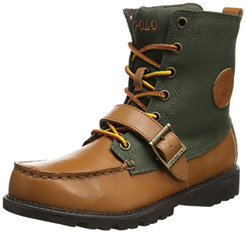 Polo Ralph Lauren Kids Ranger Hi II Leather Lace-Up Boot ,Ta