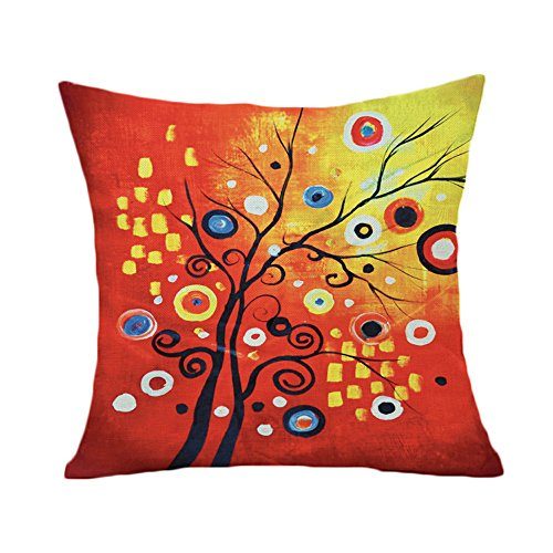 20 Square Throw Pillow Covers : Lyn Cotton Linen Square Throw Pillow Case Decorative Cushion Cover Pillowcase for Sofa 20
