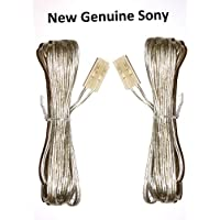 New 2 Pieces 3meters Wire Speaker Cable Cables Wires Cord For Sony Home Cinema HCD- DAV- HT- SS- Part Number 1-829-213-41 182921341