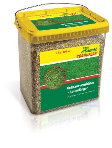 Hauert HBG Dünger 800503 Cornufera UV - Unkrautvernichter plus Rasendünger 3 kg für 100 m²