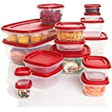 Rubbermaid Plastic Easy Find Lid Food Storage Set, 32-Piece, 1819226