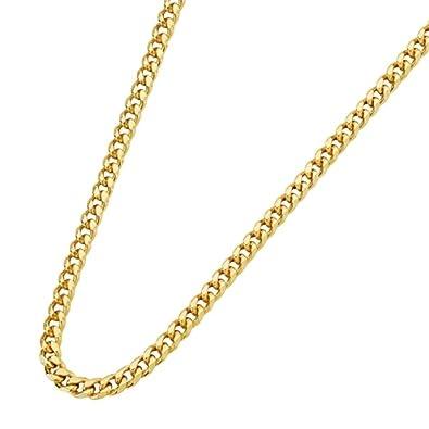 6de594fed40b Cadena oro amarillo 18K barbada 60 cm  Amazon.es  Joyería