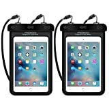 MoKo Universal Waterproof Case, [2-Pack] Dry Bag Pouch for iPad Mini 4/3/2, Samsung