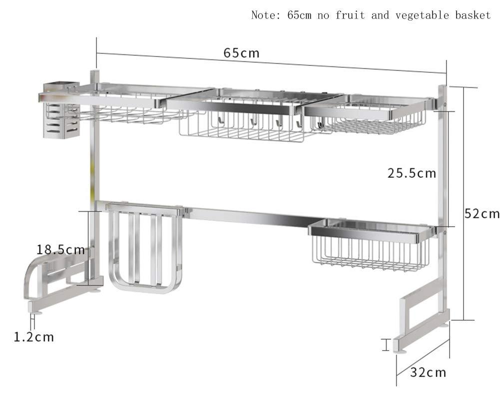 Plata ZYH-shelf Escurreplatos de Acero Inoxidable para Colocar sobre el Fregadero
