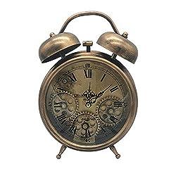 Ucreative Antique Table Clock Gear Home Decor 5.9 x 10.6