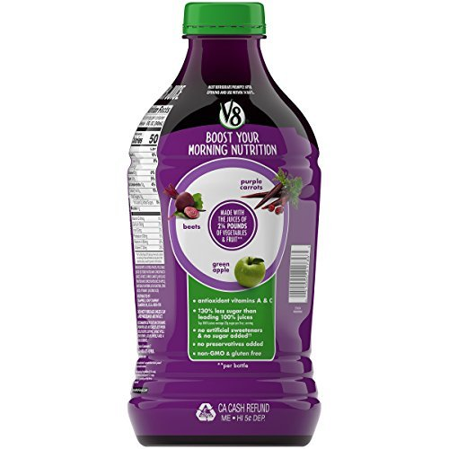 (V8 Veggie Blend, Purple Power, 46 Ounce (Pack of 6))