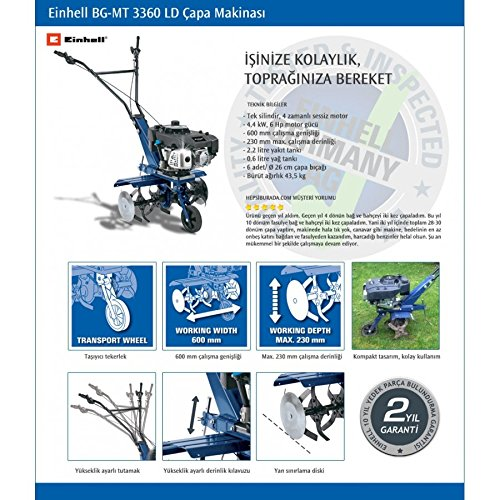 Einhell Motoazada bg-MT 3360 LD Motor a Scoppio 6 HP para ...