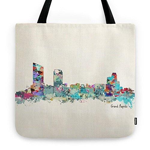 Society6 Grand Rapids Michigan Skyline Tote Bag 18