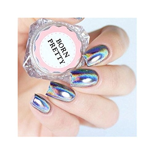 BORN PRETTY 0.5g Holographic Laser Rainbow Powder Chrome Pigment Manicure Nail Art Glitter