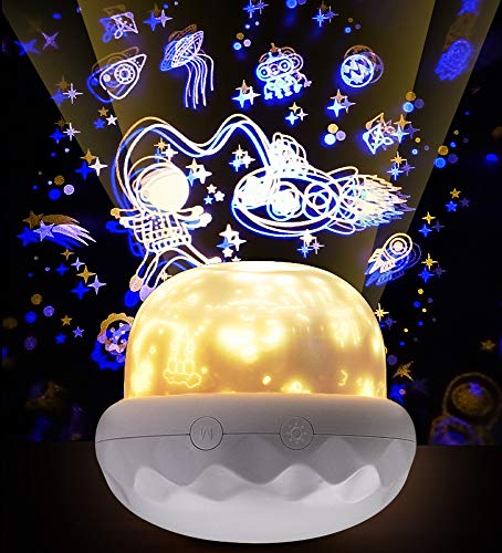 Night Light Projector for Kid, Megadream Multifunctional Undersea World Night Light Universe Projector Lamp for Decorating Birthdays, and Other Parties, Best Gift for Bedroom, 5 Sets of Film