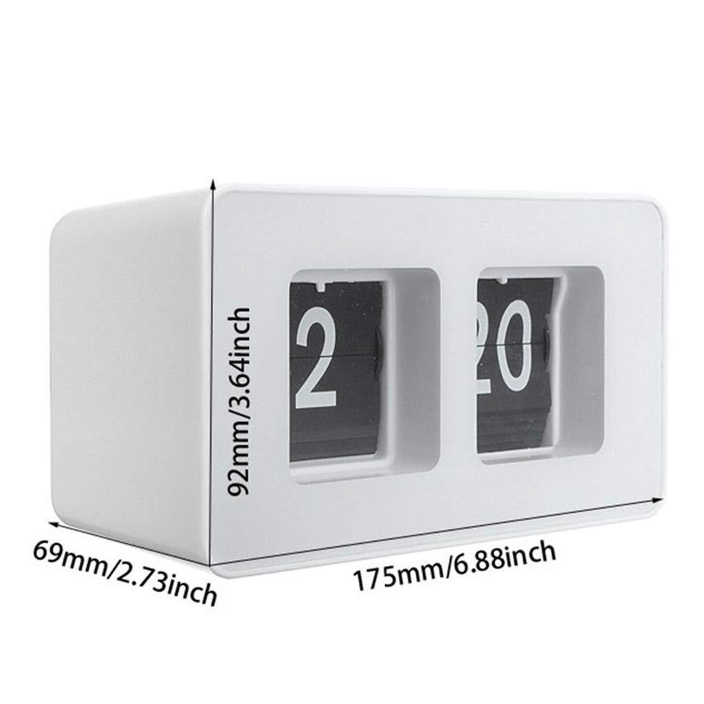 Cuisine Noir Chambre /à Coucher Kafen Horloge Bureau Automatique Flip Clock Largement Utilis/é dans de Nombreux Endroits Tels Que Salon