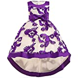 Summer Dresses 12-18 Month Easter Purple Eggplant Tulle Dress for Wedding Birthday Party Toddler Kids Sleeveless Flower Dress 12-24 Month Infant Cute Princess Dress 2018 Independence Day (Purple 90)
