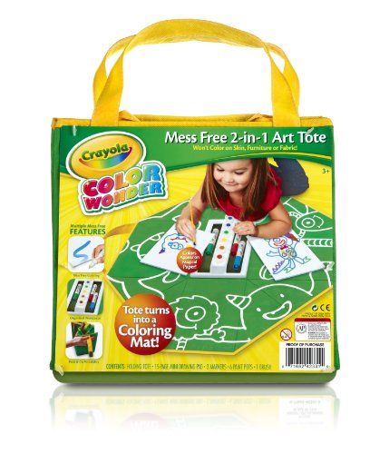 Crayola Color Wonder Mess Free 2-in-1 Art Tote, Mess Free Coloring, Gift for Ages 3, 4, 5, 6 -